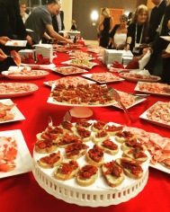A presentation on the role of food in Italian cinema, hosted by the Embassy of Italy (with lots of prosciutto samples)